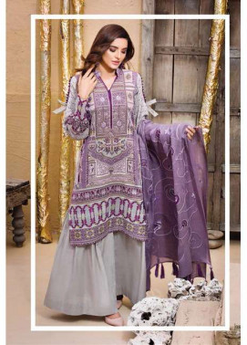 Adamjee Embroidered Cotton Satin Unstitched 3 Piece Suit AD17W 03