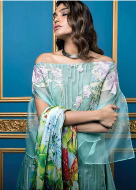 Al Dawood Textile Embroidered Organza Unstitched 3 Piece Suit AD18L 02 - Summer Collection