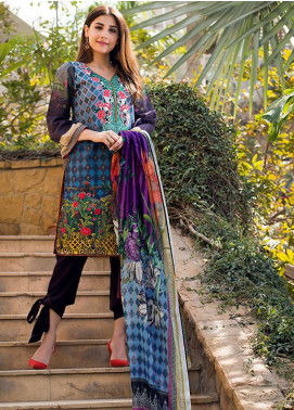 Adamjee Embroidered Lawn Unstitched 3 Piece Suit AD19L 01 - Spring / Summer Collection