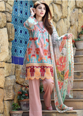 Adamjee Embroidered Lawn Unstitched 3 Piece Suit AD19L 06 - Spring / Summer Collection