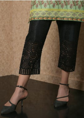Addee Pret Embroidered Lawn Stitched Trousers Ladies Trouser V3-S19-T016 Black-S