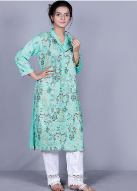 Addee Embroidered Cotton Stitched Kurtis K002 Spring Green