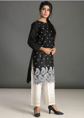 Addee Embroidered Lawn Stitched Kurtis K023 Black