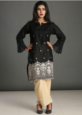 Addee Embroidered Lawn Stitched Kurtis K024 Black