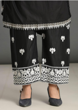 Addee Embroidered Missouri Stitched Trouser T003 Black