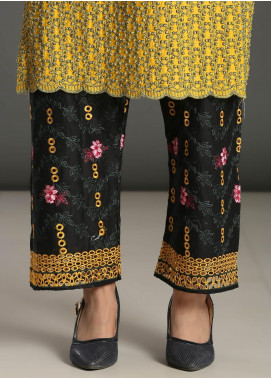 Addee Embroidered Missouri Stitched Trouser T005 Black