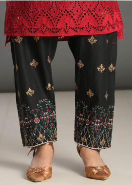 Addee Embroidered Missouri Stitched Trouser T006 Black