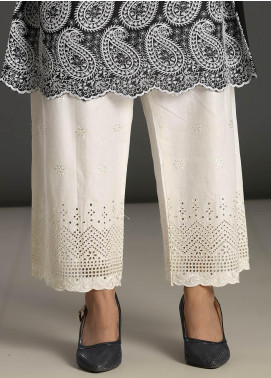 Addee Embroidered Missouri Stitched Trouser T007 White