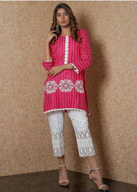 Addee Pret Embroidered Lawn Stitched Kurtis  V4-S20-K057 Pink-S