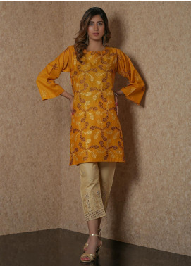 Addee Pret Embroidered Lawn Stitched Kurtis  V4-S20-K0596 Brown-S