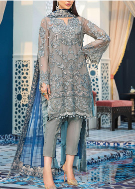 Adila by Gulaal Embroidered Chiffon Unstitched 3 Piece Suit GL20A D-4 TANGIER - Luxury Formal Collection