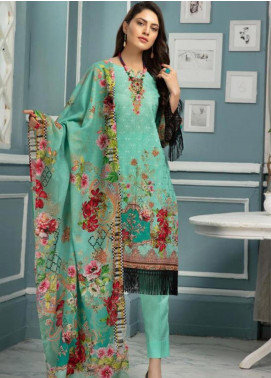 Afreen by Riaz Arts Embroidered Lawn Unstitched 3 Piece Suit ARA20L 34 - Summer Collection