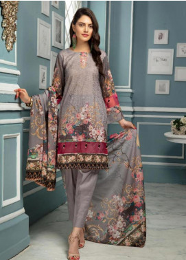 Afreen by Riaz Arts Embroidered Lawn Unstitched 3 Piece Suit ARA20L 35 - Summer Collection