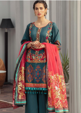 Afroze by Celina Embroidered Lawn Unstitched 3 Piece Suit C20AL 10 - Summer Collection