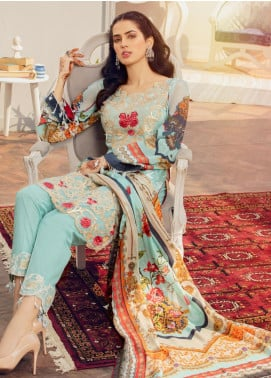 Afroze by Celina Embroidered Lawn Unstitched 3 Piece Suit C20AL 8 - Summer Collection