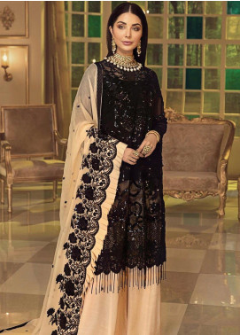 Afrozeh Embroidered Chiffon Unstitched 3 Piece Suit AF20C 01 - Luxury Collection