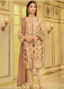 Afrozeh Embroidered Chiffon Unstitched 3 Piece Suit AF20C 03 - Luxury Collection