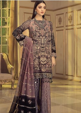 Afrozeh Embroidered Chiffon Unstitched 3 Piece Suit AF20C 06 - Luxury Collection