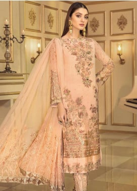 Afrozeh Embroidered Chiffon Unstitched 3 Piece Suit AF20C 07 - Luxury Collection