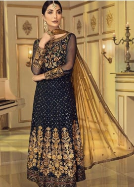 Afrozeh Embroidered Chiffon Unstitched 3 Piece Suit AF20C 08 - Luxury Collection