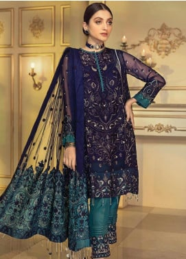 Afrozeh Embroidered Chiffon Unstitched 3 Piece Suit AF20C 09 - Luxury Collection