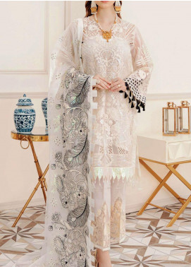 Afrozeh Embroidered Organza Unstitched 3 Piece Suit AF20LA 01 LUMI WHIRL-WIND - Luxury Collection