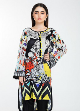 Afrozeh Printed Lawn Stitched Kurtis 01 Enchantress Beauty