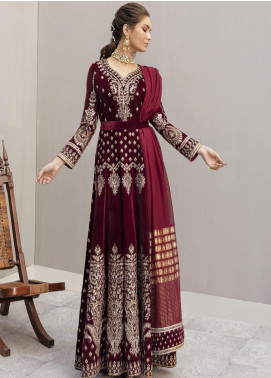Naghma by Afrozeh Embroidered Velvet Unstitched 3 Piece Suit AF20N 01 Aangan - Luxury Collection