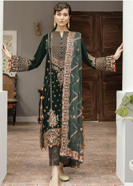 Naghma by Afrozeh Embroidered Velvet Unstitched 3 Piece Suit AF20N 02 Johar - Luxury Collection