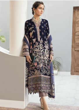 Naghma by Afrozeh Embroidered Velvet Unstitched 3 Piece Suit AF20N 03 Dil Nawaz - Luxury Collection