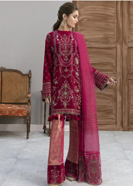 Naghma by Afrozeh Embroidered Velvet Unstitched 3 Piece Suit AF20N 04 Phool Jari - Luxury Collection