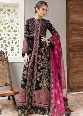 Naghma by Afrozeh Embroidered Velvet Unstitched 3 Piece Suit AF20N 05 Kali - Luxury Collection