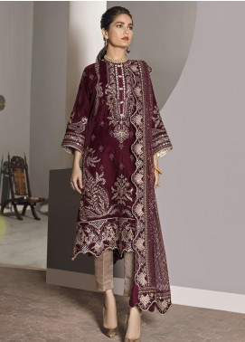 Naghma by Afrozeh Embroidered Velvet Unstitched 3 Piece Suit AF20N 07 Laila - Luxury Collection