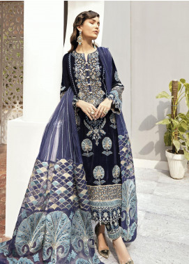 Naghma by Afrozeh Embroidered Velvet Unstitched 3 Piece Suit AF20N 09 Wanni - Luxury Collection