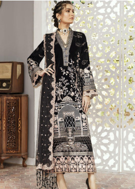 Naghma by Afrozeh Embroidered Velvet Unstitched 3 Piece Suit AF20N 10 Babil - Luxury Collection