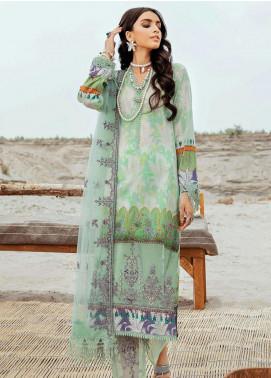 Afrozeh Embroidered Lawn Unstitched 3 Piece Suit AF20R 01 BASHFUL WHISPER - Spring / Summer Collection