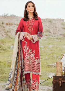 Afrozeh Embroidered Lawn Unstitched 3 Piece Suit AF20R 02 GLORIOUS TALE - Spring / Summer Collection