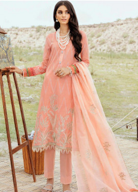 Afrozeh Embroidered Lawn Unstitched 3 Piece Suit AF20R 03 FLORAL BLISS - Spring / Summer Collection
