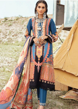 Afrozeh Embroidered Lawn Unstitched 3 Piece Suit AF20R 06 REGAL SKY - Spring / Summer Collection