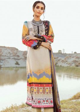Afrozeh Embroidered Lawn Unstitched 3 Piece Suit AF20R 10 EXQUISITE FANTASY - Spring / Summer Collection