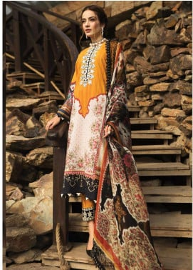 Afrozeh Embroidered Lawn Unstitched 3 Piece Suit AF20S 04 Carnation - Spring / Summer Collection