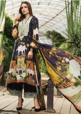 Afrozeh Embroidered Lawn Unstitched 3 Piece Suit AF20S 09 Night Glory - Spring / Summer Collection