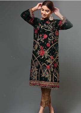 Afrozeh Embroidered Velvet Unstitched 2 Piece Suit AF19V 1 Luxe Margarita - Winter Collection