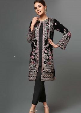 Afrozeh Embroidered Velvet Unstitched 2 Piece Suit AF19V 4 Regal Gardenia - Winter Collection