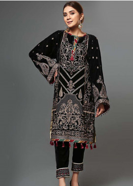Pakistani Velvet Shawl Embroidery 2019 Latest Collection Embroidered Winter Wear
