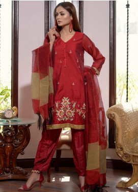 Afsanay by Elaheh Embroidered Cotton Unstitched 3 Piece Suit ELH20AF 01 - Luxury Collection