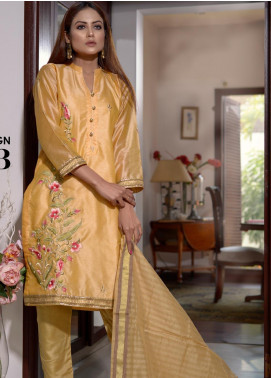 Afsanay by Elaheh Embroidered Cotton Unstitched 3 Piece Suit ELH20AF 03 - Luxury Collection