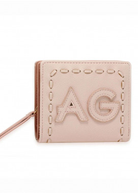 Anna Grace London Faux Leather Wallet   for Women  Pink with Smooth Texture|Grainy