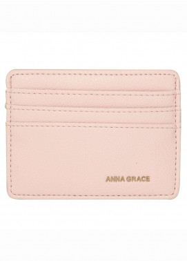 Anna Grace London Faux Leather Wallet   for Women  Pink with Rugged Texture