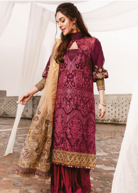 AIK Atelier Embroidered Chiffon Unstitched 3 Piece Suit AIK20C 01 - Luxury Collection